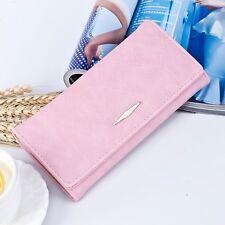 Women Leather Coin Purse Envelope Wallet Clutch Long Card Holder Handbag Bag @PK