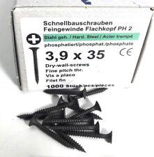 Schnellbauschrauben 3,9 x 35 - Feingewinde - PH2  Kreuztschlitz - 1000 Stück