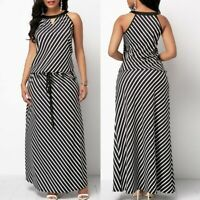 Womens Casual Long Maxi Dress Ladies Swing Evening Party Dresses Beach Plus Size