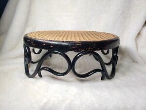 Vintage Thonet Stool Cane Seat Style Mid Century Modern MCM Oval Vtg Antique HTF