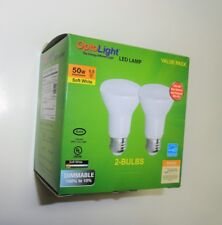 8 LED Light Bulbs, Dimmable, Small BR20 5.5W (50W) New. OP-BR20DG-5.5W-27 (4x2b)