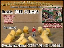 Rustic Tree Stumps-Assorted Sloped (12pcs) Scale Model Masterpieces N/1:160 *NEW