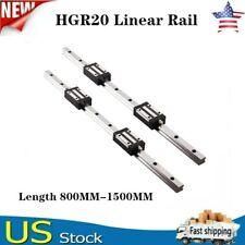 New Listing2Pcs Hgr20 800mm-1500mm Linear Guide Rail + 4Pcs Hgh20Ca Slider Block For Cnc Us