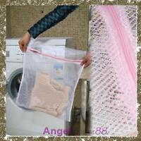 Clothes Wash Laundry Lingerie Net Wash Bag Home Wash Saver Mesh Net 30x40CM
