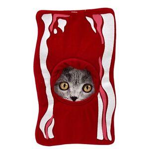 Dog / Cat Hat Food Costume Headwear Slice Of Bacon Size: XS/SM Lightweight NEW