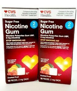 (2) SEALED!  CVSHealth Sugar Free Fruit Nicotine - 20 Lozenges, 2mg - EXP. 01/23