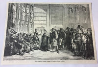 1885 magazine engraving~ TRIBUNAL OF THE WATERS Valencia Spain, 1800
