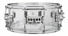"""Pacific by Dw Signature Chad Smith Acrylic 6"""" x 14"""" Snare Drum"""