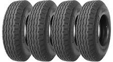 4 New Heavy Duty Highway Mobile Home Trailer Tires 8-14.5 14PR LR G- 11067