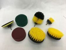 Scrub Brush Drill Attachment Kit Power Scrubber Cleaning Brushes Grout Tile