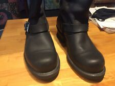 Frye Boots Engineer Tall Black Oiled Leather 8M