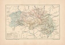 C9061 France - ORNE - Cartina geografica antica - 1892 antique map