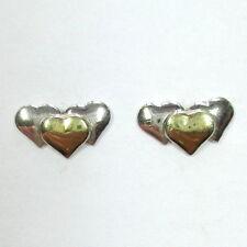 1059 - Kleine Herzen Ohrstecker aus 835 Silber teilvergoldet - 1769