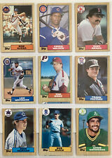 9 Topps Baseball Cards  1987 ! ERROR SET !! Print Oops Off-Set 5 Of 9
