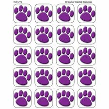 Purple Paw Prints Stickers Teacher Created Resources Tcr5775
