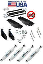 "Ford F350 4X4 Dual Front Shock Bracket w/Procomp Shocks and 3"" lift kit"