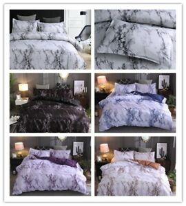 Marble Comforter Set AU Queen King Size Bedding set Quilt cover Pillowcase Shams
