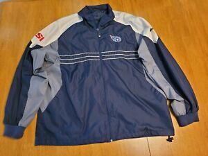 TENNESSEE TITANS Mens Windbreaker Jacket Sports Illustrated Size Large  NFL