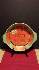 "Fire King 2000 Jadeite 10"" - NEW w/Original Labels ~ Deep Dish Pie Plate"