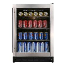 "Magic Chef Beverage Cooler Chiller 23.4"" 154 12 oz Can Beverage Stainless Steel"