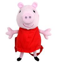 """New Peppa Pig 15"""" Stuffed Plush Backpack"""