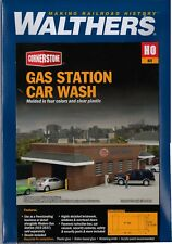 HO Scale Walthers Cornerstone 933-3539 Gas Station Car Wash Building Kit