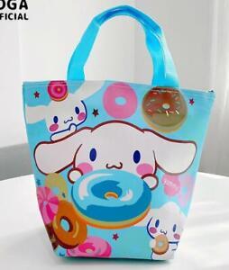 Cinnamoroll dog PU Tote Bags Handbag Lunch Bag storage bag  cartoon