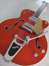 Brian Setzer Gretsch 6120 SSL Tiger Flame Orange 2004 Bigsby With Case