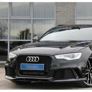 Pour Audi A6 C7 S6 2012-15 Calandre Grille Noir Plein Brillant Nid Abeille RS6