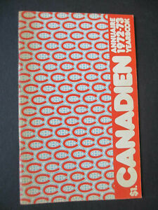 1972-73 MONTREAL CANADIENS MEDIA GUIDE YEARBOOK 1973 NHL CHAMPIONS