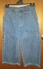 GAP boys long jean shorts, blue denim, size 14