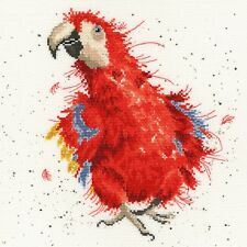 BOTHY THREADS PARROT ON PARADE COUNTED CROSS STITCH KIT BY HANNAH DALE