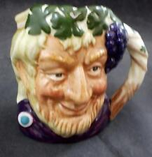 """Royal Doulton """"Bacchus"""" D6521Sm Small Character Toby Jug Great Condition"""