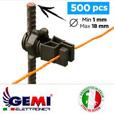 Isolateur pour clôture électrique électrifiée pour piquets en fer 500 pcs Gemi