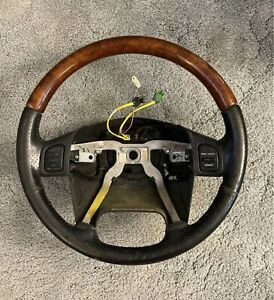 2002 - 2004 Jeep Grand Cherokee Overland WJ OEM Wood & Leather Steering Wheel