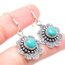 Turquoise Gemstone 925 Sterling Silver Earring 2.36 Inch ER-76