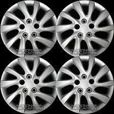 "Set of 4 fits 2011-16 Hyundai Elantra 16"" Bolt On Wheel Covers Full Rim Hub Caps"