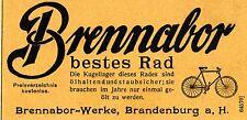 Brennabor-Werke Brandenburg FAHRRÄDER Historische Reklame von 1907