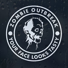 Zombie Response Outbreak Tasty Face Funny Car Window Laptop Decal Vinyl Sticker