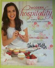 Whitney Miller Signed Modern Hospitality Book Gordon Ramsay Hardcover Masterchef