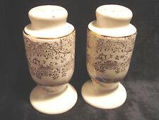 Vintage.....Flowered / Gold Tone Painted.....Salt & Pepper Shakers