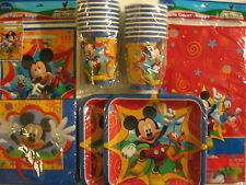 MICKEY MOUSE FUN & FRIENDS Birthday Party Supplies Set Pack for 16 w/ Treat Bags