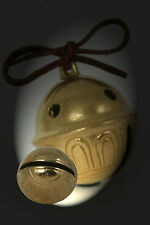 Polar Bear Express Bell # 15 Brass Big Sleigh Bell with leather all sizes avlbl