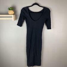 Topshop Womens Black Body Con Dress Size 2