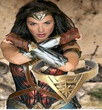 Wonder Woman Movie Diana Prince Tiara Bracelet Bangles Cuff Cosplay Props Gift