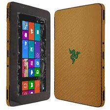 Skinomi Gold Carbon Fiber Skin+Clear Screen Protector For Razer Edge Pro Tablet