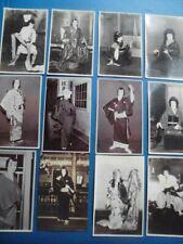 Japanese Postcards Kabuki Actors Photo Paper Set 12 b Taisho / Showa