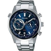 NEW Pulsar PY7003 Gents Dual Time 100M Retrograde Stainless Steel UK Seller