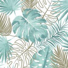 L604-04 Muriva verde tropical hojas papel pintado - con purpurina & Metálico