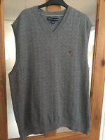 Tommy Hilfiger Sleeveless Jumper MedGrey Small Cable detail XXL ch50 28L classic